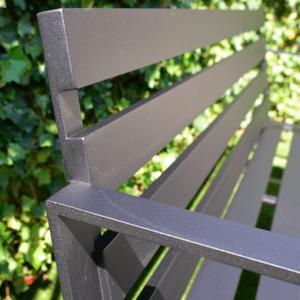Loungebank op maat tuin aluminium matzwart buiten