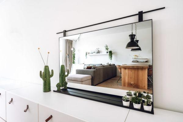 Spiegel met opbergruimte