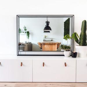 spiegel met stalen omlijsting frame cactus 3d lijst