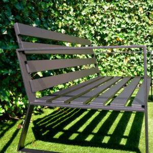 Maatwerk aluminium tuinbank matzwart