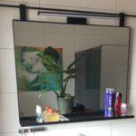 Badkamerspiegel met plankje